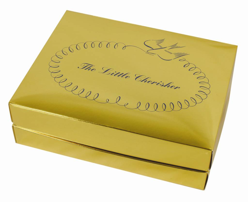 Little Cherisher Gold Acid-Free Christening or Baby Box