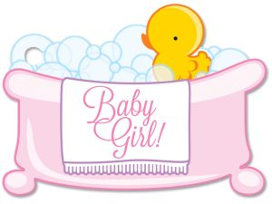 Baby Girl Bubblebath Gift Card