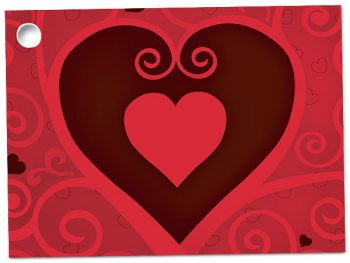 Gift Card Chocolate Hearts