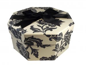 Small Hat Box Medusa Black & White Pattern