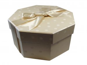Polka Dot Champaign Hat Box